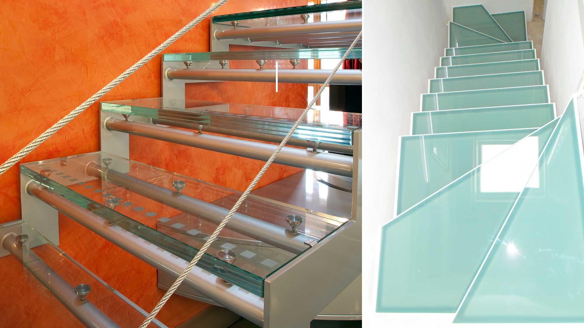 vetreria verona scale gradini vetro ideal vetraria