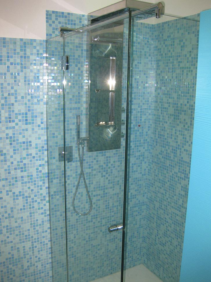 Box doccia ad angolo con porta apertura 00-90-180