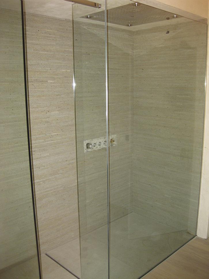 Box doccia con pareti fisse in cristallo temperato