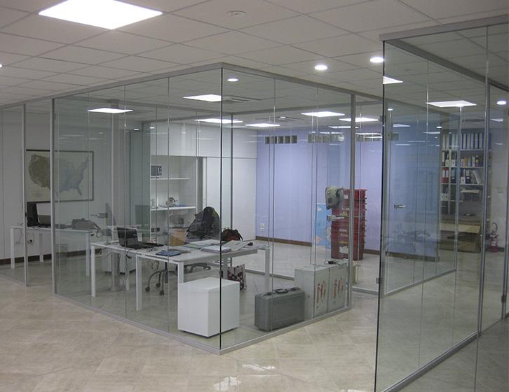 Pareti divisorie in cristallo, sistema House Office Metalglas